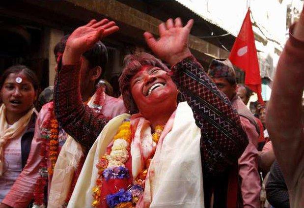 APTOPIX Nepal Electio Heal