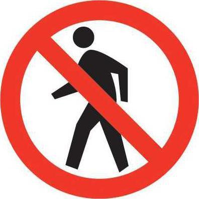 W pedestrian sign