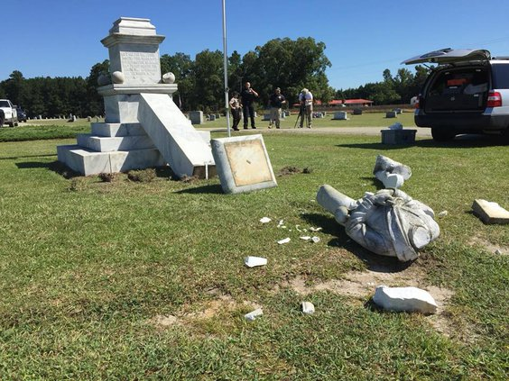 Screven Confederate monument vandalized