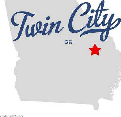 map of twin city ga