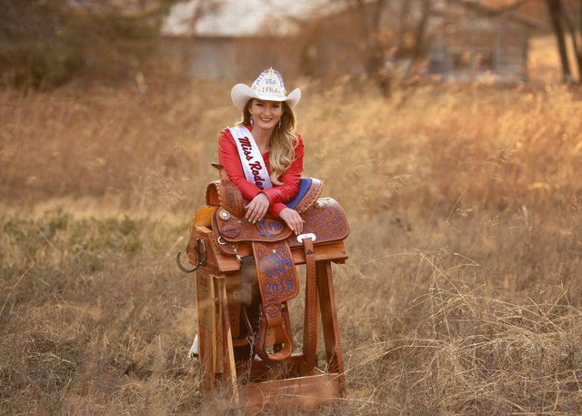 Miss Rodeo Usa Riding In For The Kiwanis Rodeo