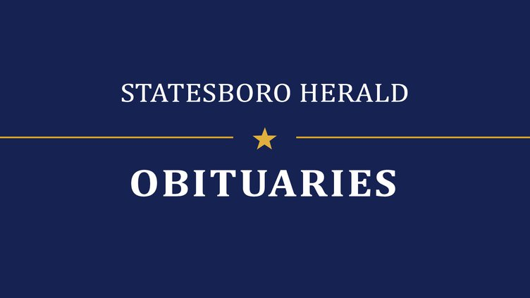 Mr Martin Thomas Tommy Conner Statesboro Herald